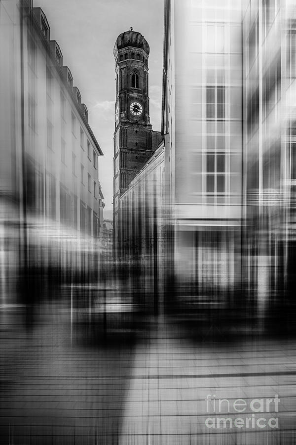 People Photograph - Frauenkirche - Muenchen V - Bw by Hannes Cmarits