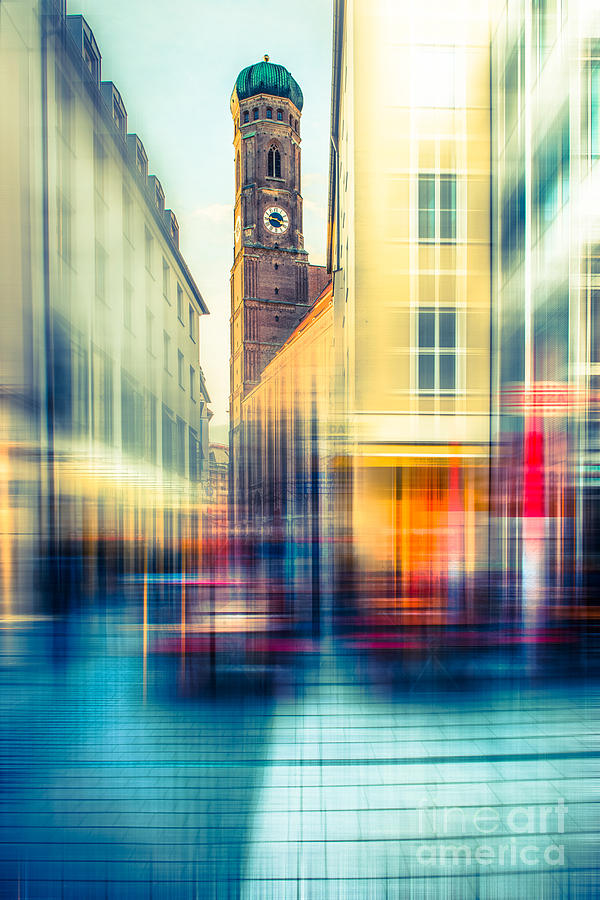 People Photograph - Frauenkirche - Munich V - Vintage by Hannes Cmarits
