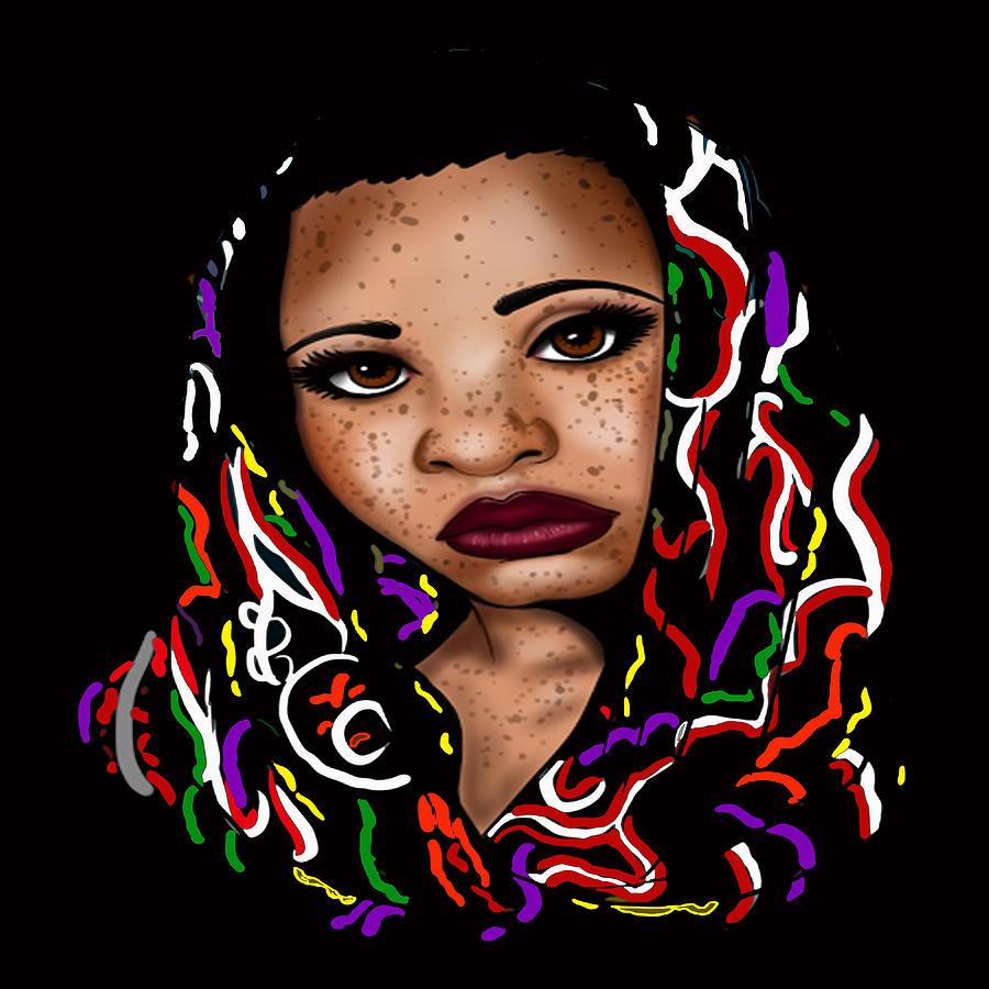 Queen Digital Art - Freckled Nubian Queen by Respect the Queen