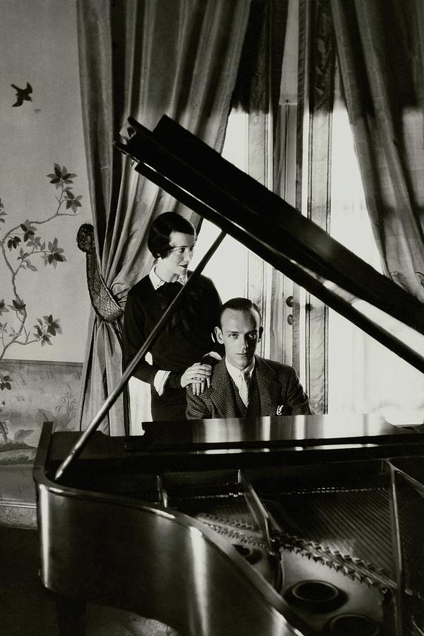 Fred And Adele Astaire At A Piano Photograph by Cecil Beaton