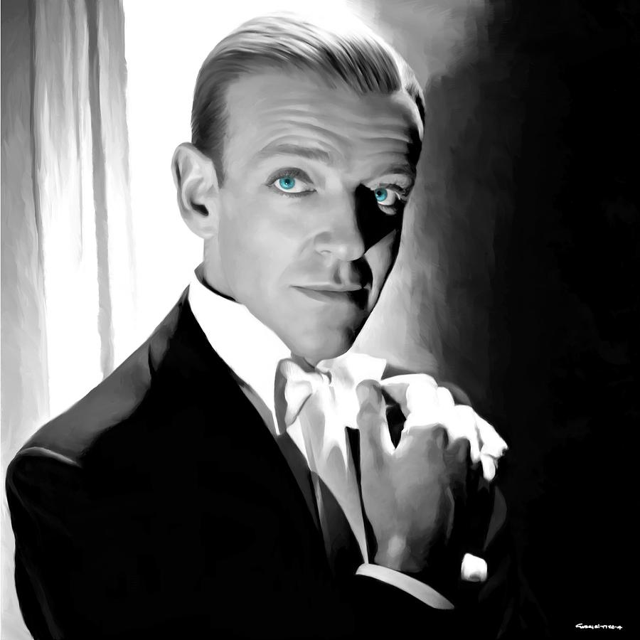 Fred Astaire Digital Art - Fred Astaire Portrait by Gabriel T Toro