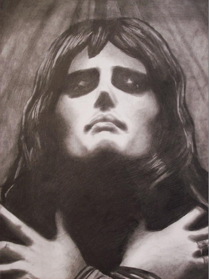 Freddie Mercury Drawing - Freddie by Amber Stanford