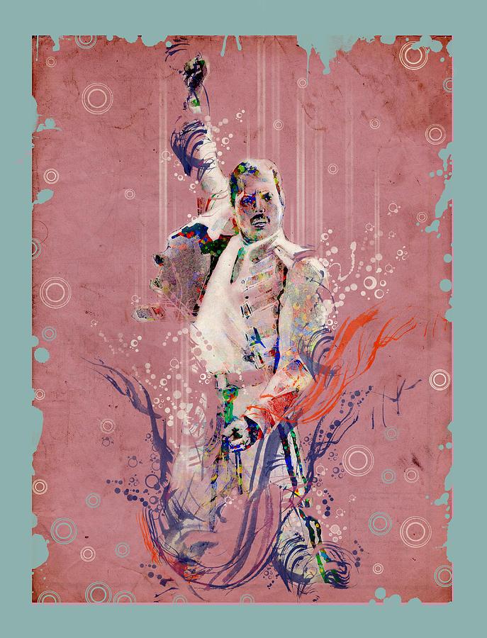 Freddie Mercury Painting - Freddie Mercury 11 by Bekim M