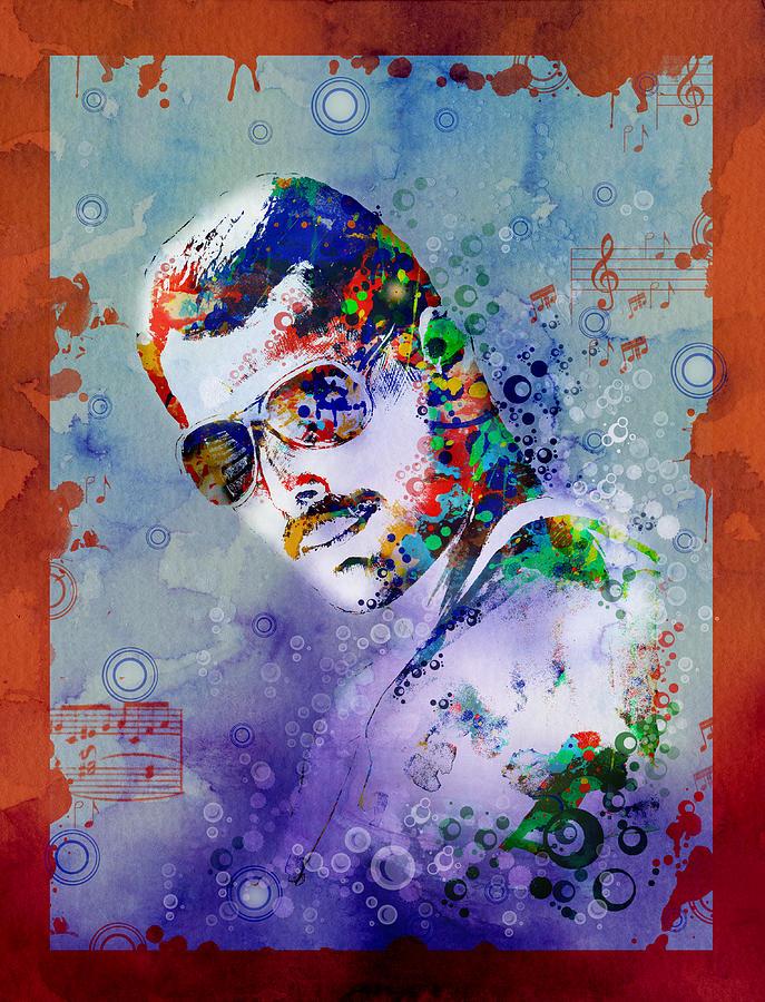 Freddie Mercury Painting - Freddie Mercury 12 by Bekim M