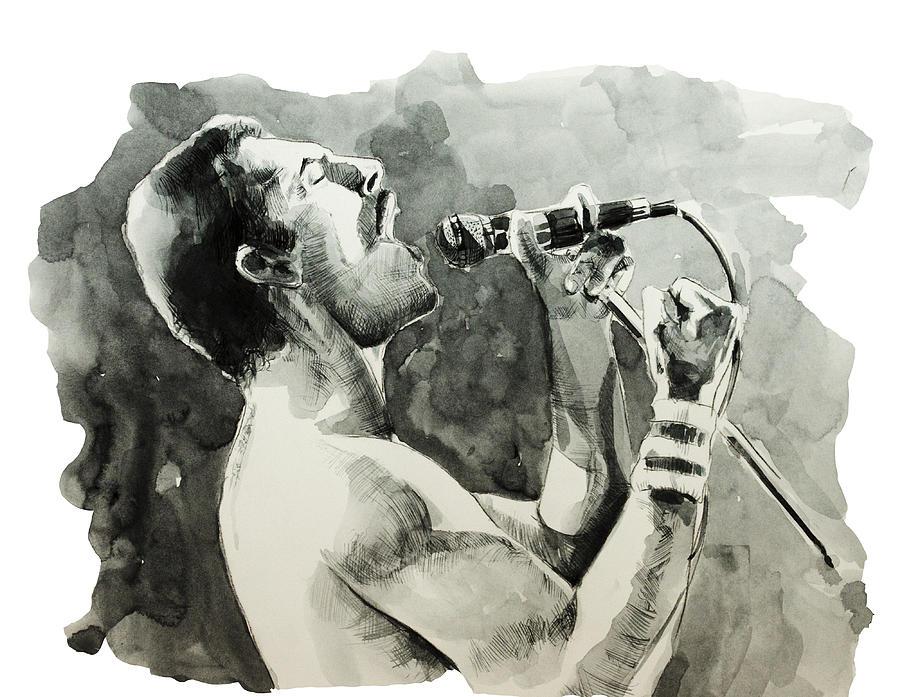 Freddie Mercury Painting - Freddie Mercury 8 by Bekim M