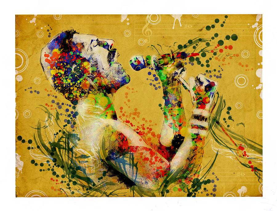 Freddie Mercury Painting - Freddie Mercury Vintage 2 by Bekim M