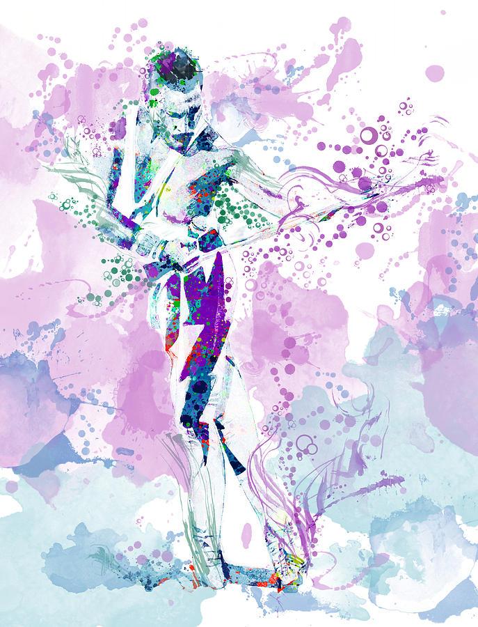 Freddie Mercury Painting - Freddie Mercury Waterolor Style by Bekim M