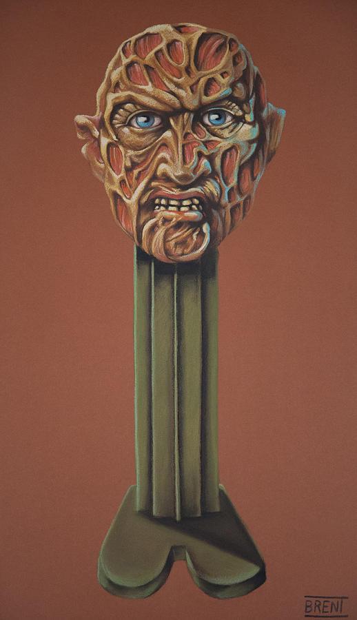 Freddy Krueger Pastel - Freddy Krueger  by Brent Andrew Doty