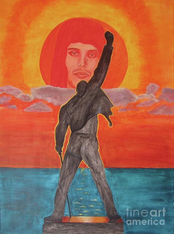 Freddy Mercury Painting - Freddy Mercury Queen by Jeepee Aero