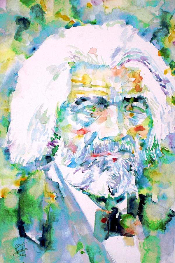 Frederick Douglass Painting - Frederick Douglass - Watercolor Portrait by Fabrizio Cassetta