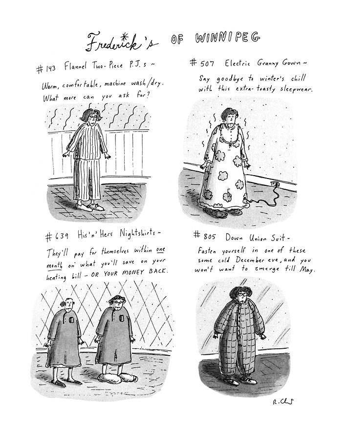 Fredericks Of Winnipeg Drawing by Roz Chast