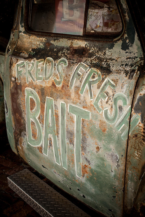 Rusty Photograph - Freds Fresh Bait by Paul Bartoszek