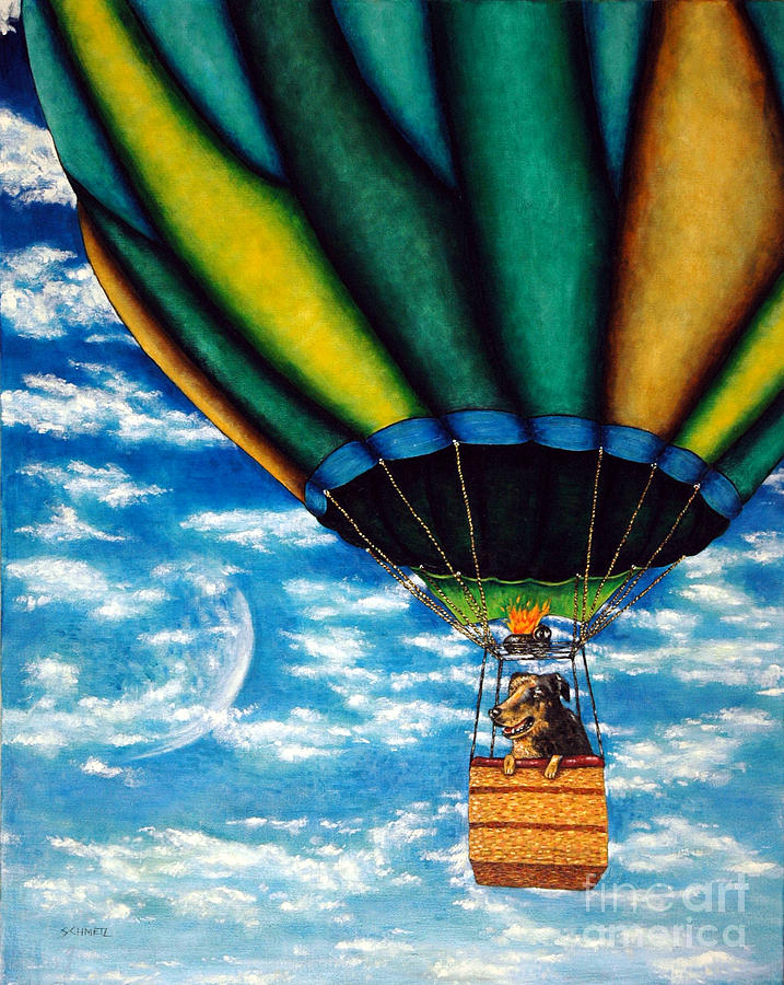 Hot Air Balloon Painting - Free As A Red Spotted Meryl by Jay  Schmetz
