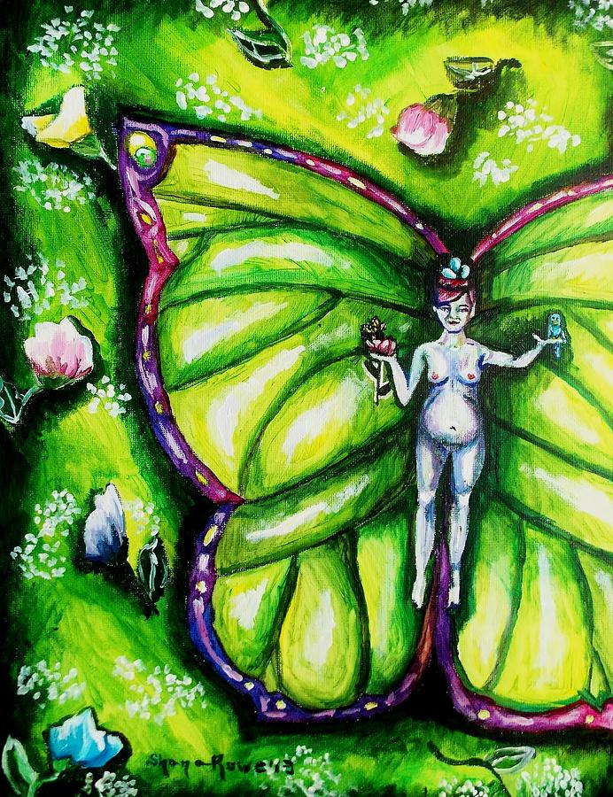 Spring Painting - Free As Spring Flowers by Shana Rowe Jackson