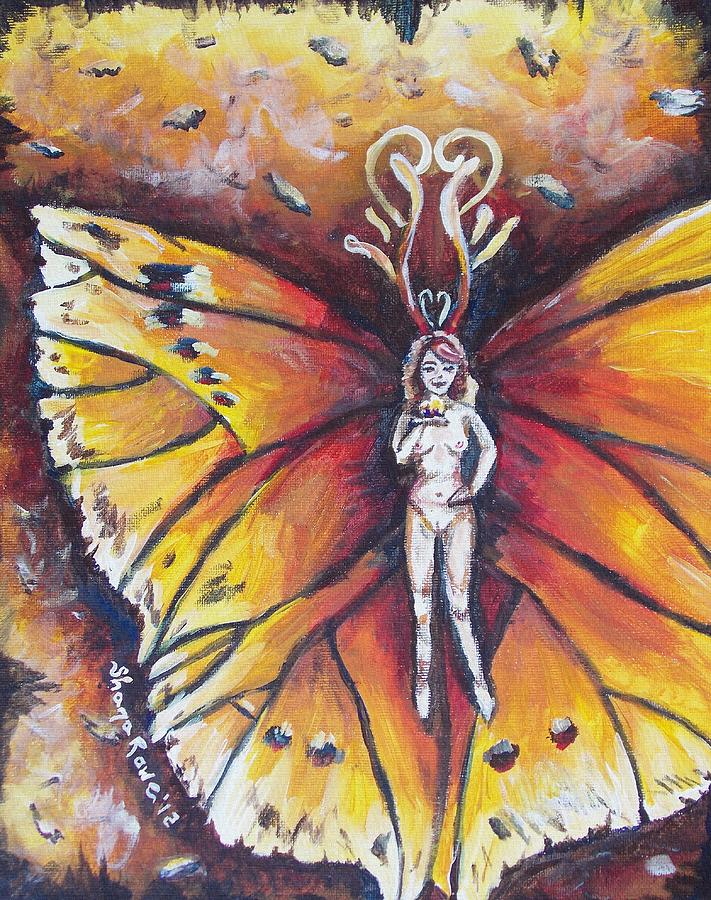 Fire Painting - Free As The Flame by Shana Rowe Jackson