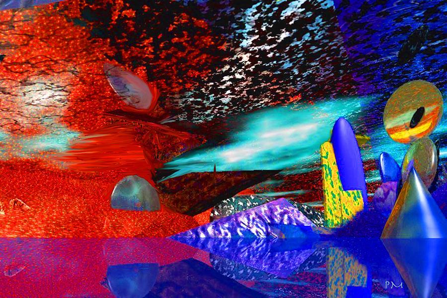 Free Association 1 Digital Art by Phillip Mossbarger
