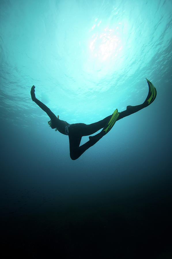 Free Diver Photograph by William Rhamey - Azur Diving