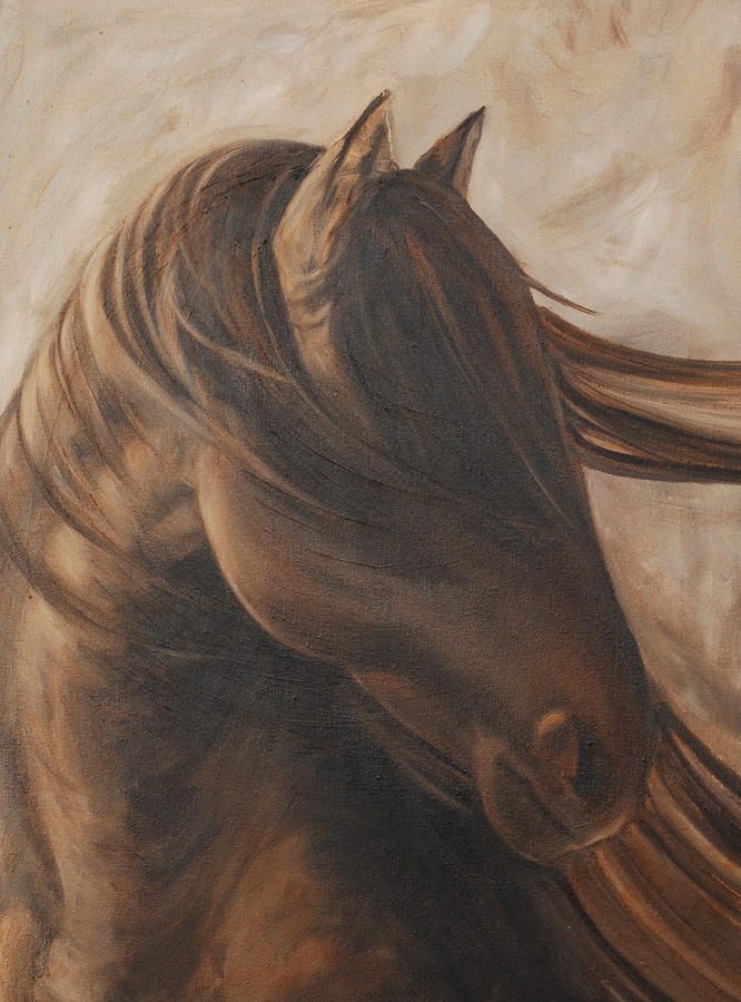 Horse Painting - Free Gal by Carol Grieve