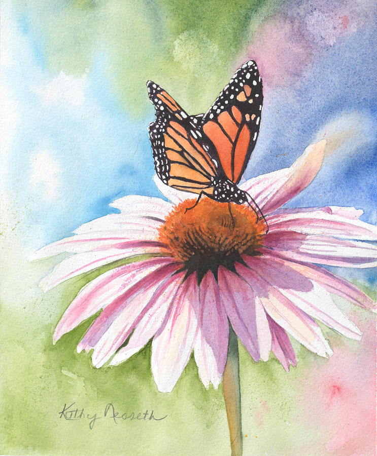 Watercolor Painting - Free Indeed by Kathy Nesseth