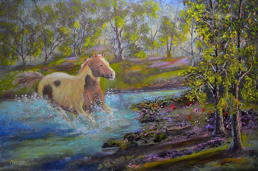 Landscape Painting - Free by Michael Mrozik