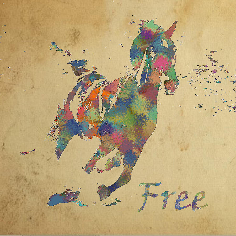 Freedom Digital Art - Free by Soumya Bouchachi