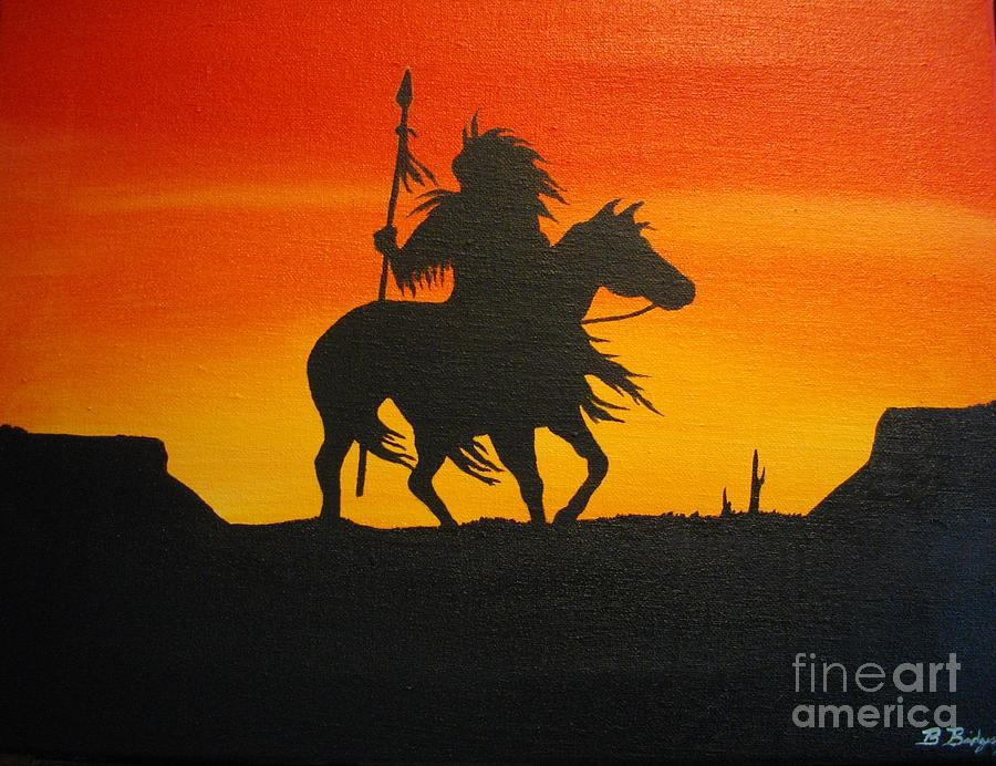 Native American Painting - Free Spirit by Barry Bridges