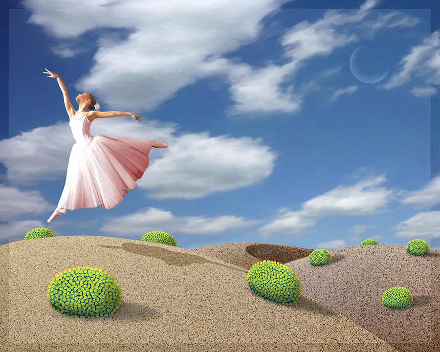 Ballerina Painting - Free Spirit by Snake Jagger