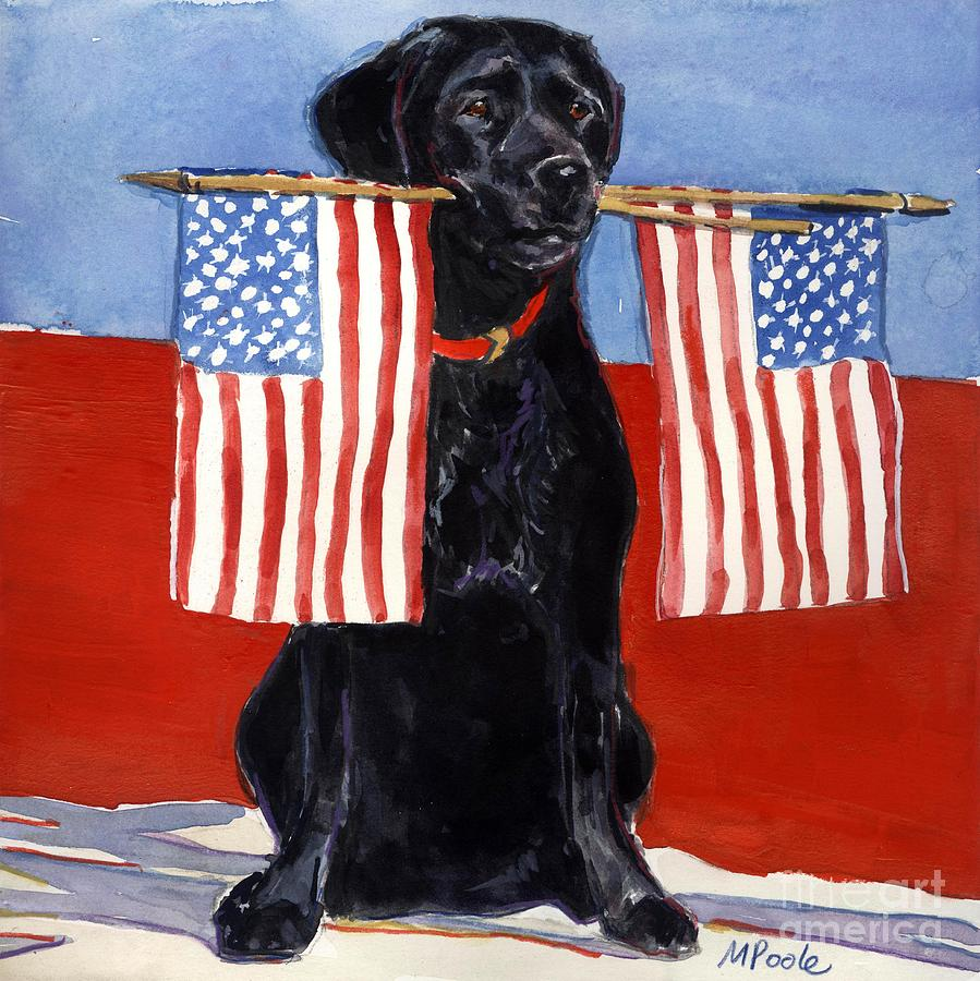 American Flag Painting - Free To Be by Molly Poole