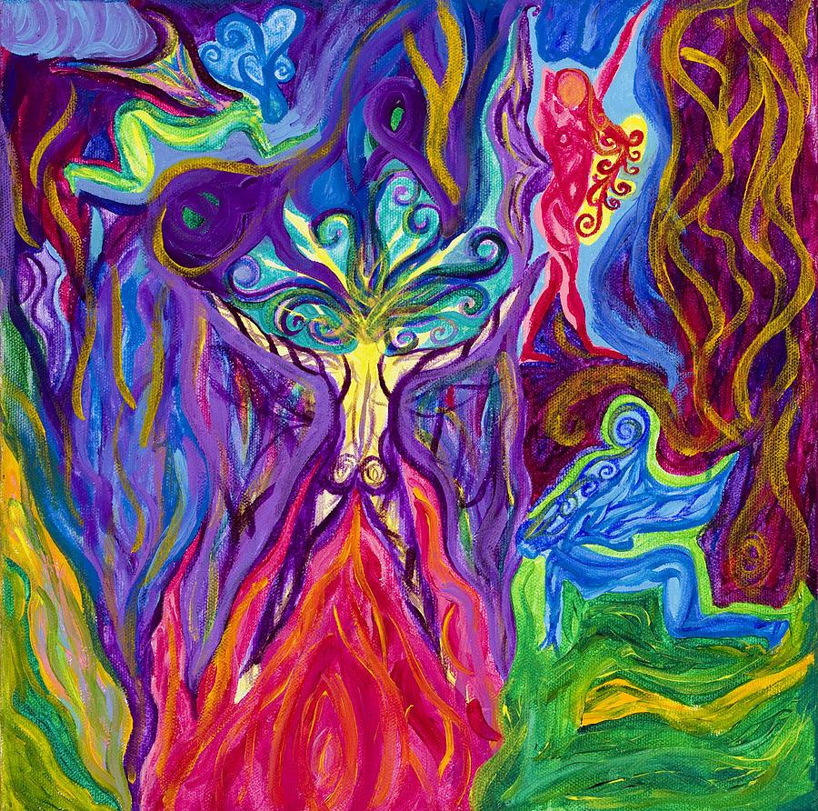 Goddess Painting - Free Your Goddess by Wisper Krimmer
