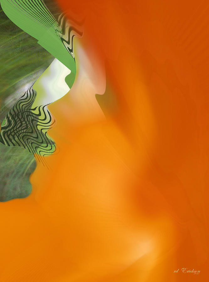 Abstract Digital Art - Freed by Roy Erickson