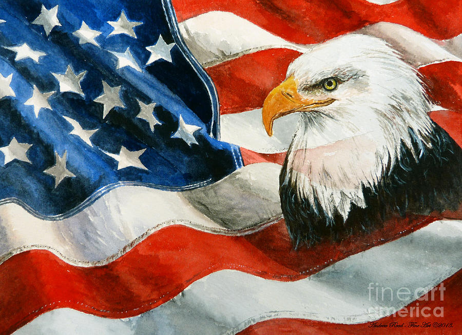 Patriotic Painting - Freedom by Andrew Read