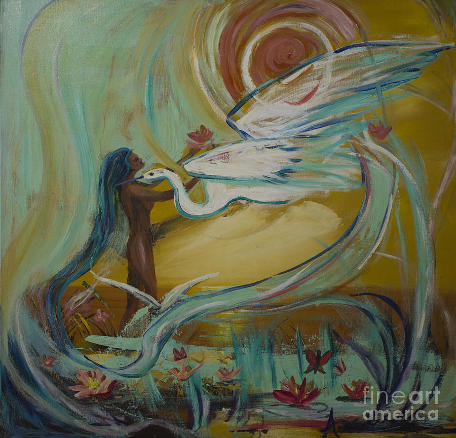 Woman Painting - Freedom by Avonelle Kelsey