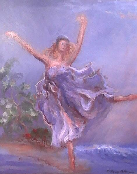 Freedom Painting - Freedom Dance by Patricia Kimsey Bollinger