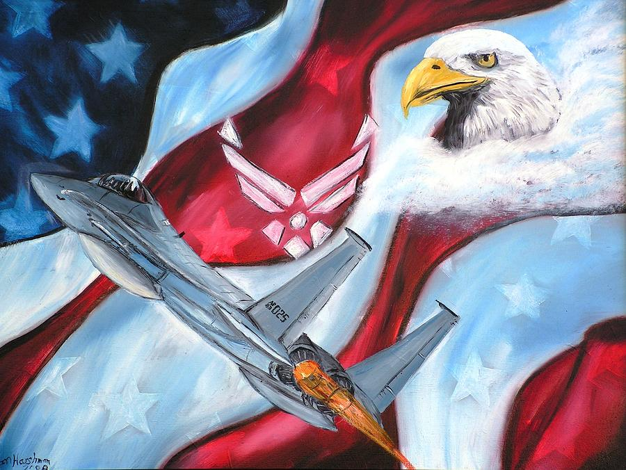 Air Force Painting - Freedom Eagles by Dan Harshman