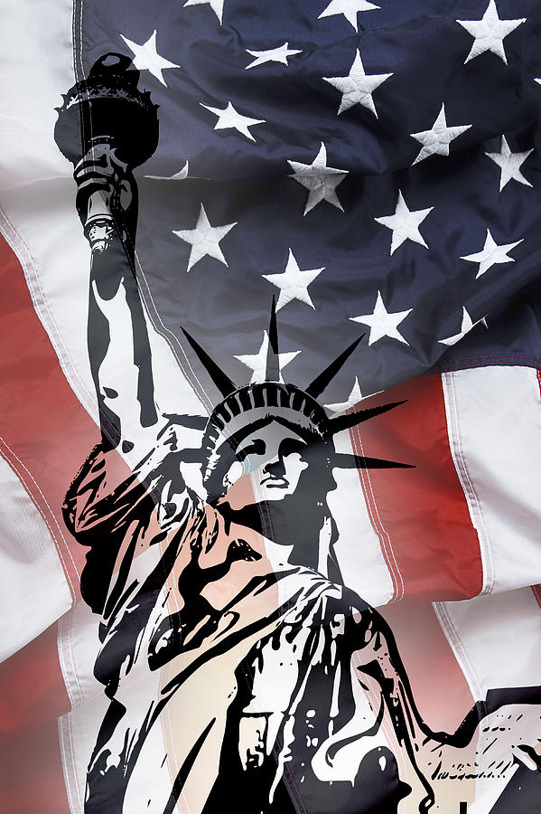Statue Of Liberty Digital Art - Freedom For Citizens by Daniel Hagerman