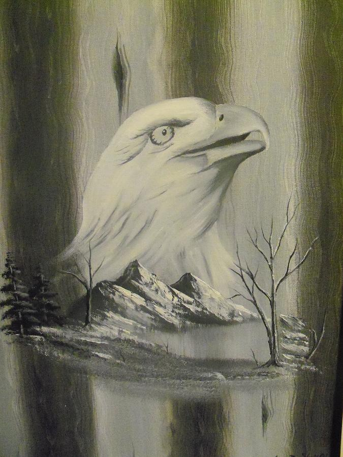 Eagle Painting - Freedom Hunter by Ricky Haug