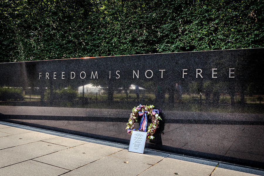 Freedom Is Not Free Photograph By Sennie Pierson