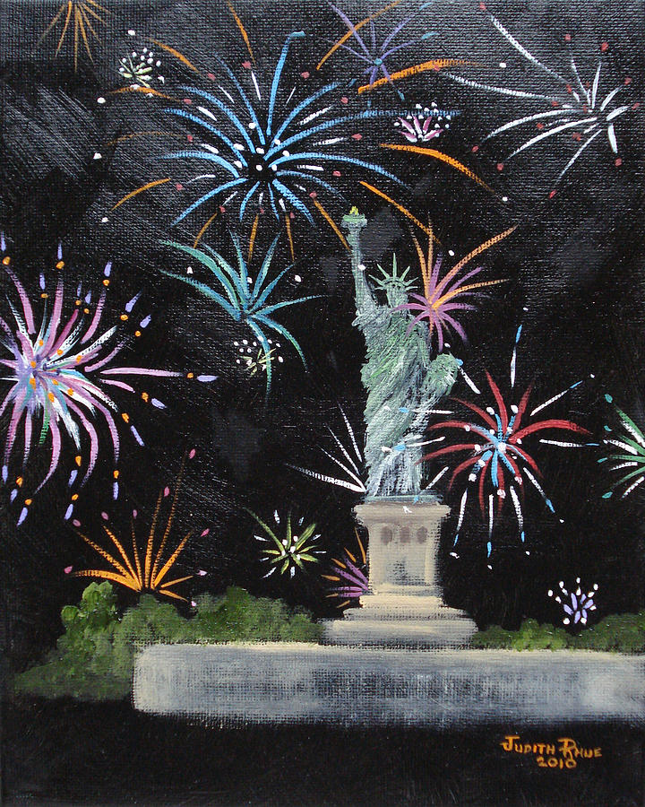 Statue Of Liberty Painting - Freedom by Judith Rhue