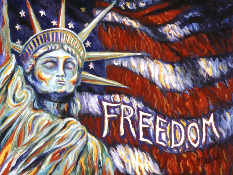 Statue Of Liberty Painting - Freedom by Linda Mears