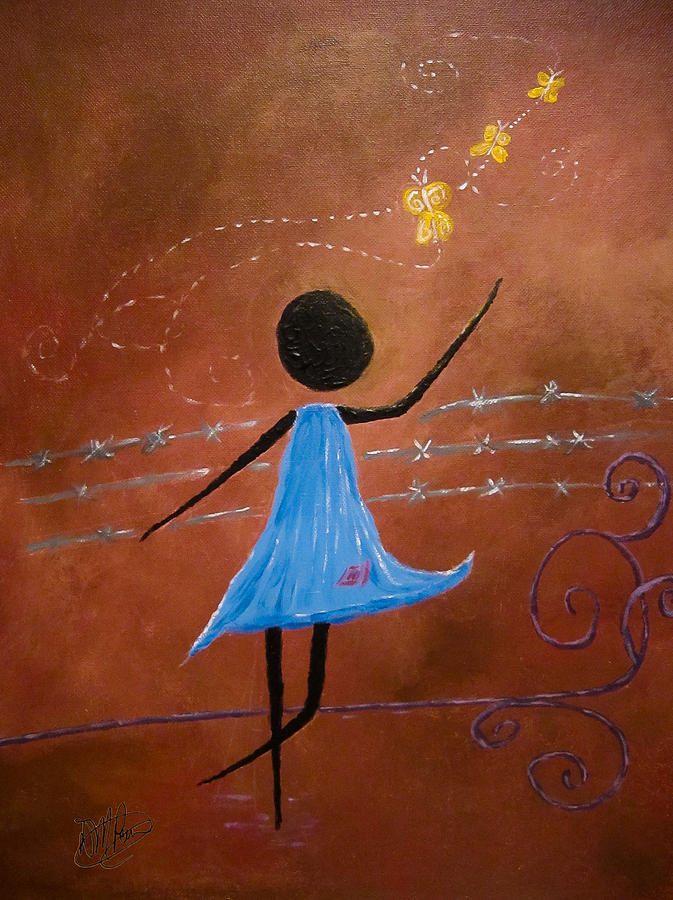 Africa Painting - Freedom by Michele Perry