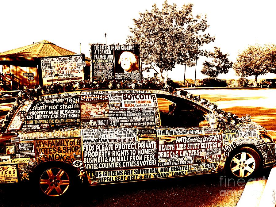 Freedom Of Speech Photograph - Freedom Of Speech On Wheels by Desiree Paquette