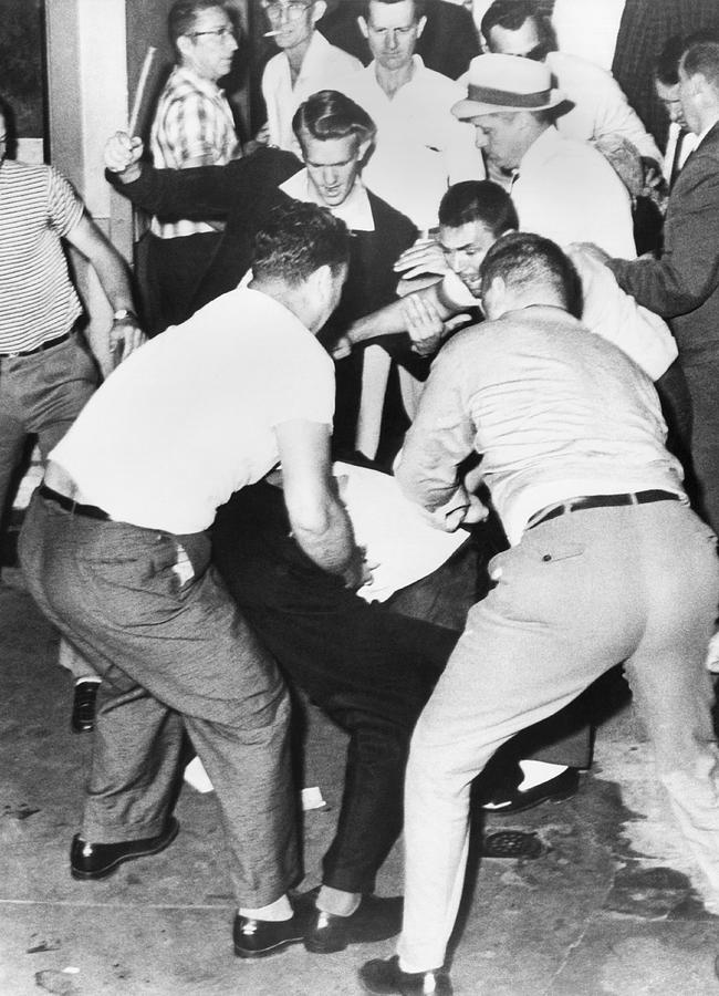 1950s Photograph - Freedom Rider Beaten by Underwood Archives