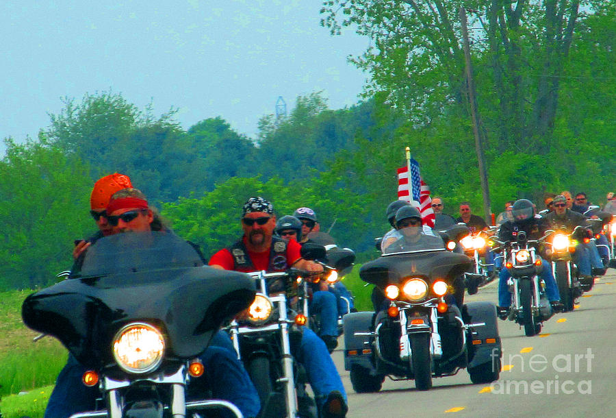 Motorcycles Photograph - Freedom Riders Having So Much Fun by Tina M Wenger