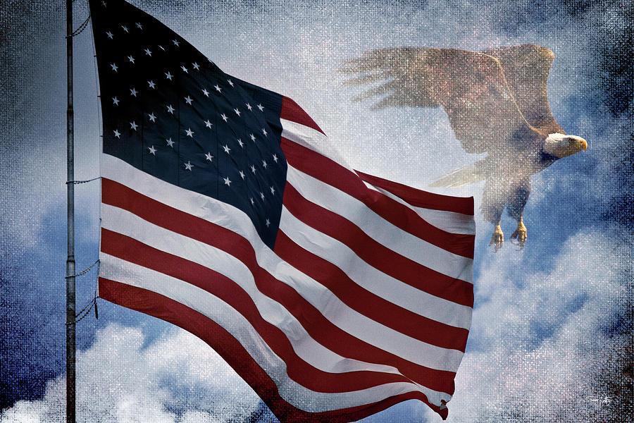 Eagle Photograph - Freedom by Scott Pellegrin