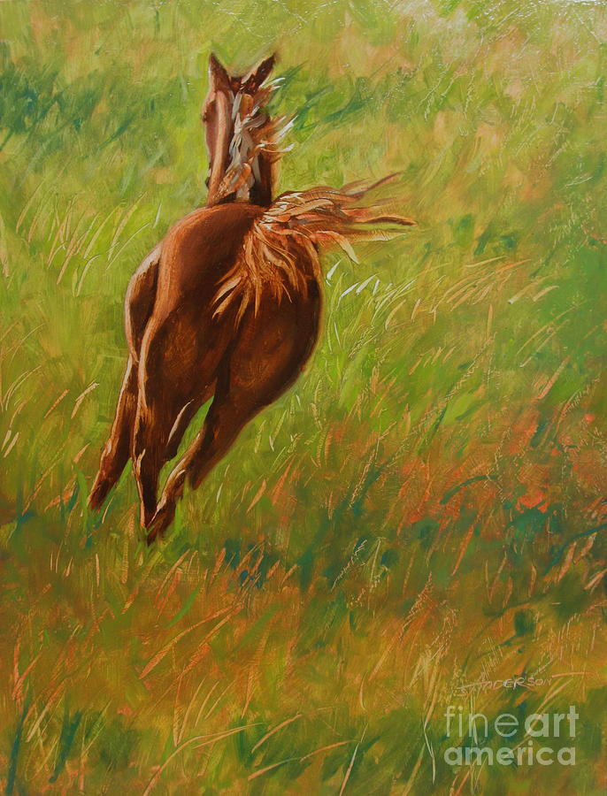 Horse Painting - Freedom by Sherri Anderson
