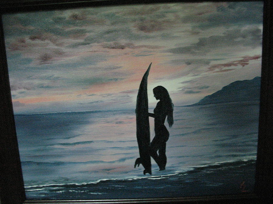 Freedom Surfer Painting by Kathy Livermore