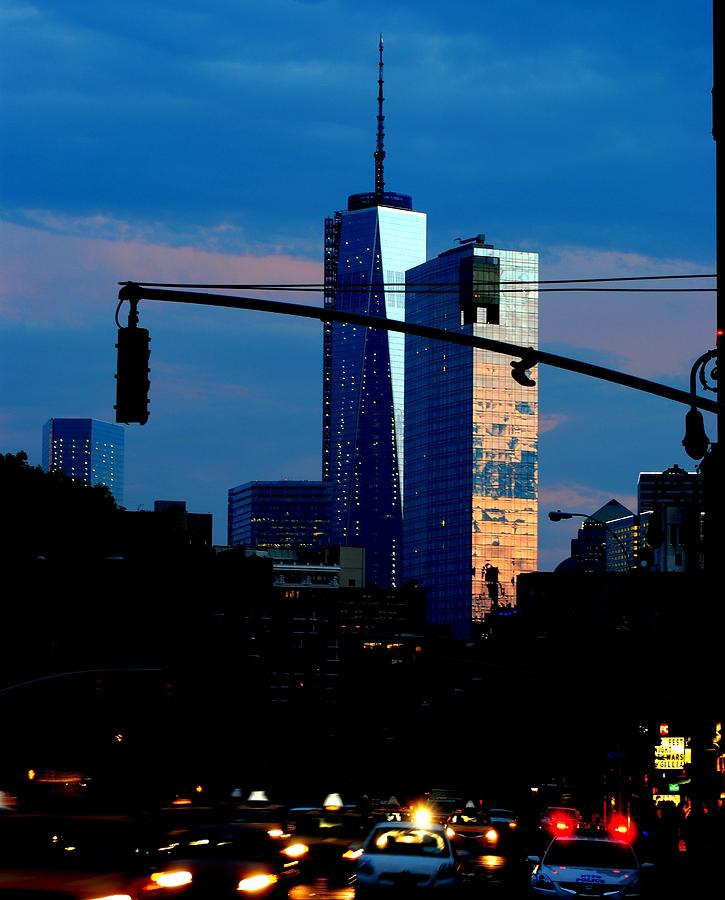 New York Photograph - Freedom Tower New York Ny At Dusk by Ron Bartels