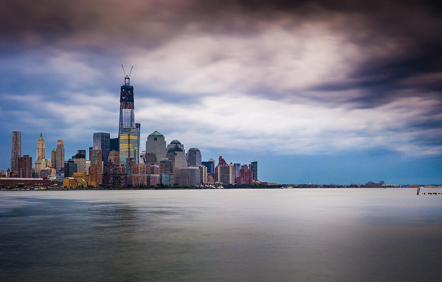 Freedom Tower Photograph - Freedom Tower Over The Hudson by Chris Halford