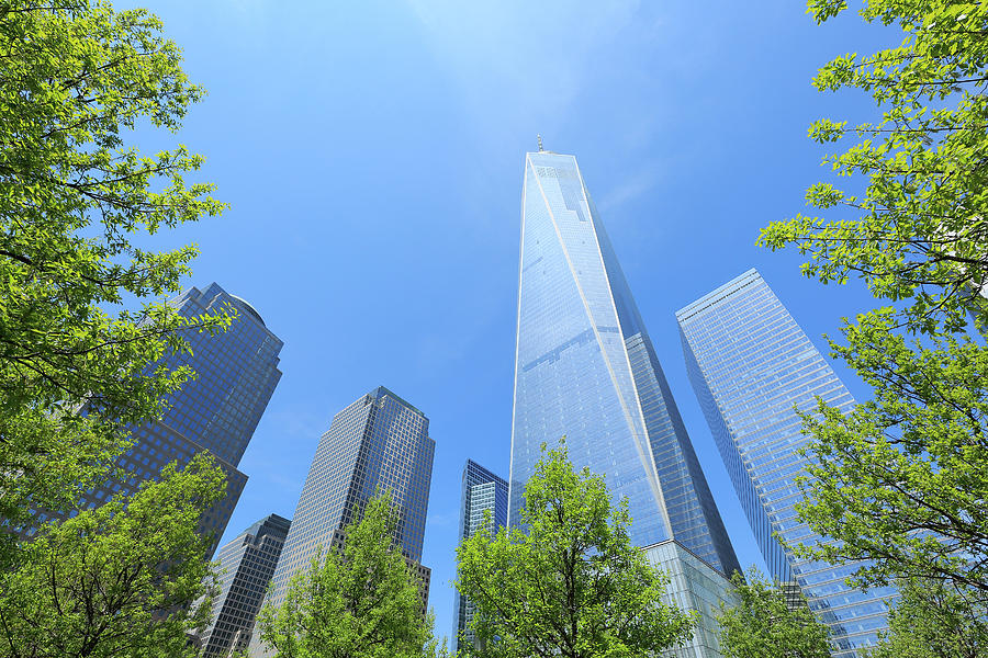 Freedom Tower Which Is Surrounded  By Photograph by Toshi Sasaki