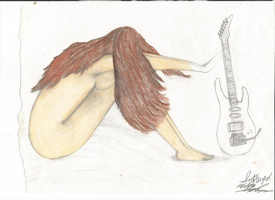 Freedom Within Music Drawing by Annette Abbott